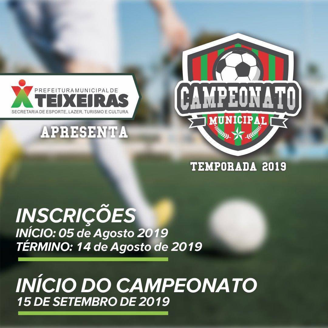 Aberta as inscrições para a temporada 2019 do Campeonato Municipal de Futebol de Teixeiras