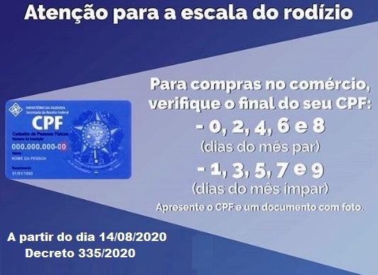 Rodizio de CPF em Teixeiras